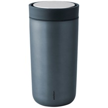 stelton Trinkbecher To Go Click 0.34 l, metallic blau
