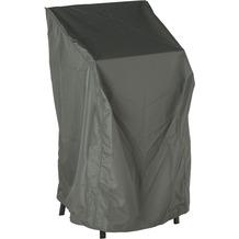 Stern Schutzhülle für 4-6 Stapelsessel mit Bindebändern 100% Polyester grau
