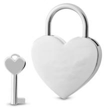 Sterngraf Schloss Herz mit Schlüssel Liebesschloss Herzschloss Vorhängeschloss Farbe: silber