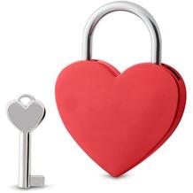 Sterngraf Schloss Herz rot mit Schlüssel Liebesschloss Herzschloss Vorhängeschloss