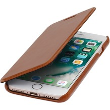 Stilgut Book Type Case ohne Clip für iPhone 7, cognac