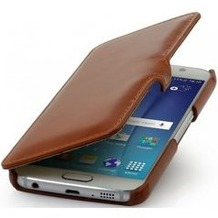 Stilgut BookCover mit Clip für Samsung Galaxy S6 - cognac