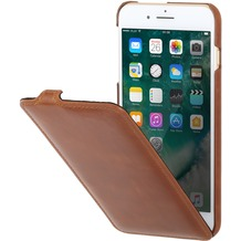 Stilgut UltraSlim Case für Apple iPhone 7 Plus, cognac