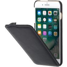 Stilgut UltraSlim Case Nappa für Apple iPhone 7 Plus, schwarz