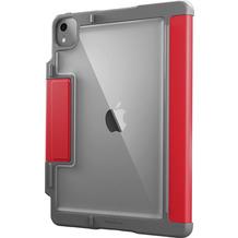 STM Dux Plus Case, Apple iPad Air 10,9 (2020), rot/transparent, STM-222-286JT-02