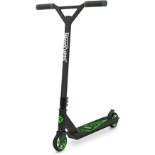 Streetsurfing Torpedo Stunt-Scooter MIT GRAVUR (z.B. Namen) schwarz Core grün