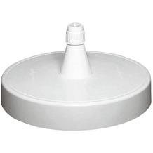 Sun Garden Ständer für Ampelschirm, Kunststoff weiß, mit Sand befüllbar, Füllgewicht 150 kg, für Rohrstärken 40-70 mm, Ø 85 cm