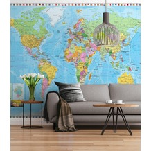 "Sunny Decor Fototapete ""World Map"" 254 x 184 cm"