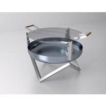 SvenskaV Grill-Rost aus massivem Edelstahl, 45 cm Durchmesser