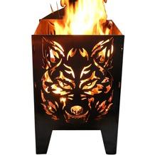 SvenskaV Motiv-Feuerkorb Wolf, L