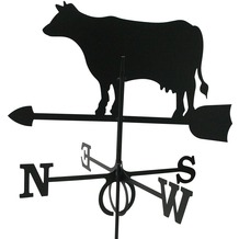 SvenskaV Wetterfahne Kuh, Stahlblech, schwarz pulverbeschichtet, groß