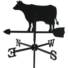 SvenskaV Wetterfahne Kuh, Stahlblech, schwarz pulverbeschichtet, klein