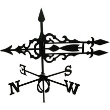 SvenskaV Wetterfahne Pfeil, Stahlblech, schwarz pulverbeschichtet, groß