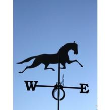 SvenskaV Wetterfahne Pferd, Stahlblech schwarz pulverbeschichtet, groß