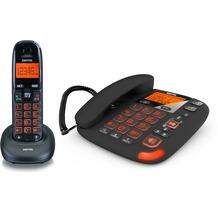Switel Vita DCT50072C, schnurloses DECT-Telefon-Combo mit Anrufbeantworter, schwarz