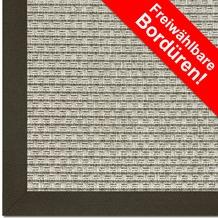 Astra Outdoor/Küchenteppich Sylt Design 801 silber Farbe 040 Wunschmaß mit Polypropylen-Bordüre