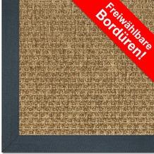 Astra Outdoor/Küchenteppich Sylt Design 801 ocker Farbe 060 Wunschmaß mit Polypropylen-Bordüre