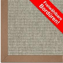 Astra Outdoor/Küchenteppich Sylt Design 803 silber Farbe 040 Wunschmaß mit Polypropylen-Bordüre