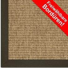 Astra Outdoor/Küchenteppich Sylt Design 803 ocker Farbe 060 Wunschmaß mit Polypropylen-Bordüre
