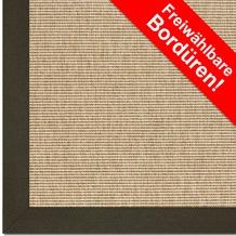 Astra Outdoor/Küchenteppich Sylt Design 806 beige Farbe 001 Wunschmaß mit Polypropylen-Bordüre