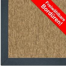 Astra Outdoor/Küchenteppich Sylt Design 806 ocker Farbe 060 Wunschmaß mit Polypropylen-Bordüre