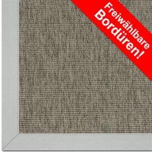 Astra Outdoor/Küchenteppich Sylt Design 806 nerz Farbe 065 Wunschmaß mit Polypropylen-Bordüre