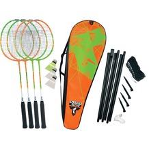Talbot-Torro Badminton-Set 4-Attacker Plus, Set im Thermobag mit Netz