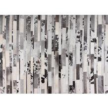 talis teppiche Lederteppich LEATHER Des. 1405 schwarz/weiß 200 x 300 cm