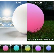 @tec 30cm LED Solar Kugelleuchte, 1,5W Solarpanel