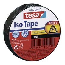 tesa Isolierband schw.10m 15mm in Folienverpackung