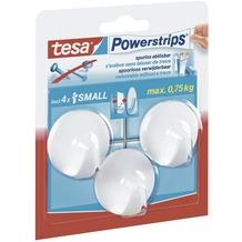tesa Powerstrip Haken small weiß, 3 Stück