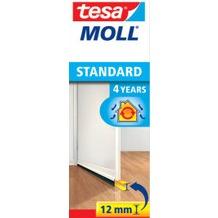 tesa Tesamoll Standard Türdichtungsschiene für glatte Böden, weiß