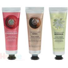 The Body Shop G2 Gtr Trio Hand Creams 3x30ml Hand Cream - Strawberry / Shea / Moringa hand cream 90 ml
