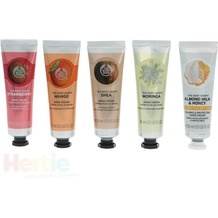 The Body Shop G3 Gtr Core Hand Creams 5 5x30ml Hand Cream - Strawberry / Mango / Shea / Moringa / Almond Milk & Honey hand cream 150 ml