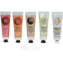 The Body Shop 5x30ml Handcremes - Strawberry / Mango / Shea / Moringa / Almond Milk & Honey