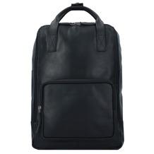 The Chesterfield Brand Belford Businessrucksack Leder 40 cm Laptopfach schwarz