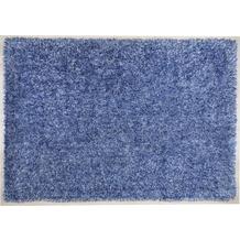 THEKO Hochflor-Teppich Girly uni blau 50 cm x 80 cm