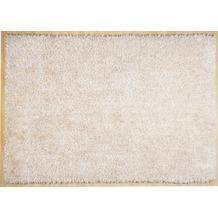 THEKO Hochflor-Teppich Girly uni white 50 cm x 80 cm