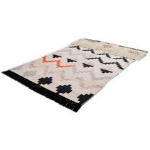 THEKO Handwebteppich Beni Ourain Nomadic-Design multicolor dunkel 140 cm x 200 cm