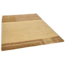 THEKO Nepalteppich Talonga Silk RSK302 camel 162 x 228 cm