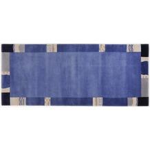 THEKO Nepalteppich Avanti TK-02 701 blau 80 x 300 cm