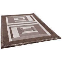 THEKO Nepalteppich Baktapur Seta BT253 brown 160 x 230 cm