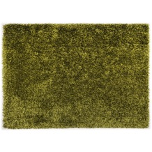 THEKO Hochflor-Teppich Girly uni grün 50 cm x 80 cm