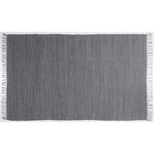 Zaba Handwebteppich Dream Cotton Anthrazit 40 cm x 60 cm
