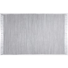 Zaba Handwebteppich Dream Cotton Grau 40 cm x 60 cm