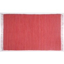 Zaba Handwebteppich Dream Cotton Rot 40 cm x 60 cm