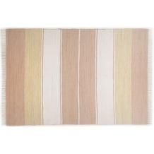 THEKO Handwebteppich Happy Design Stripes beige 60 cm x 120 cm
