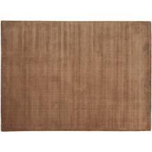 THEKO Teppich Melbourne1000, UNI, brown 67cm x 135cm