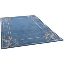 THEKO Nepalteppich Monsulo Silk D3249 blue multi 160 x 232 cm