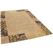 THEKO Nepalteppich Talonga Silk RSK495 beige / brown 172 x 245 cm